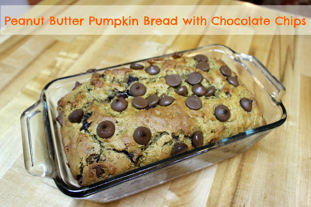 PEANUT BUTTER PUMPKIN BREAD WITH CHOCOLATE CHIPS
