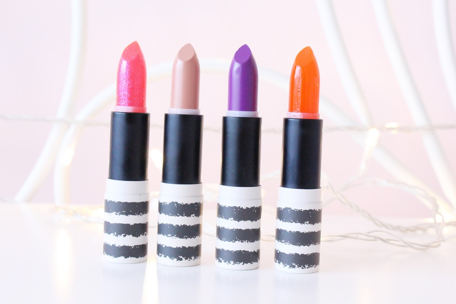 Topshop Lipsticks in Crystal, Nevada, Straight Ace and Jewel