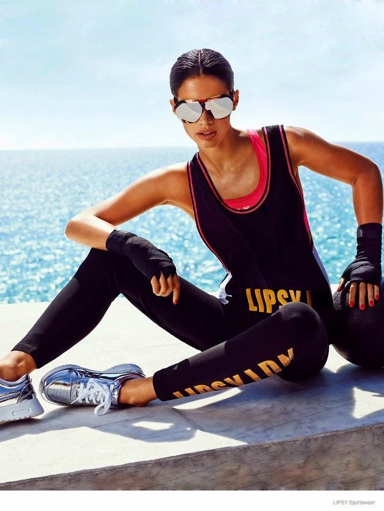 Lipsy London Sportswear Lookbook 2014 featuring Sara Sampaio