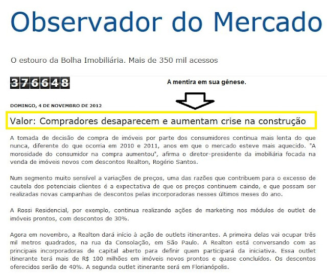 Matéria do Valor Econômico falsificada no blog Observador do Mercado