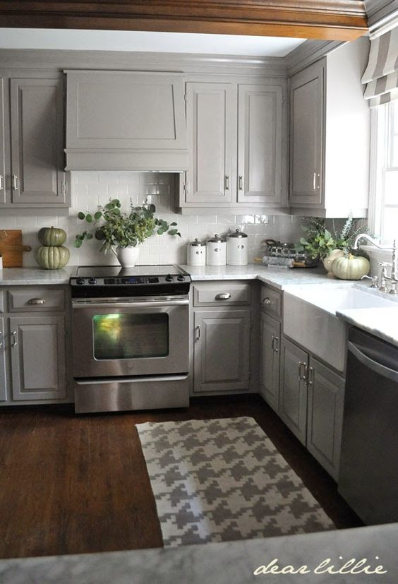 Gorgeous Gray: Kitchens and Bathrooms with Modern Gray ... on Rustic:rkh3E0Gkuju= Farmhouse Kitchen Ideas  id=94156