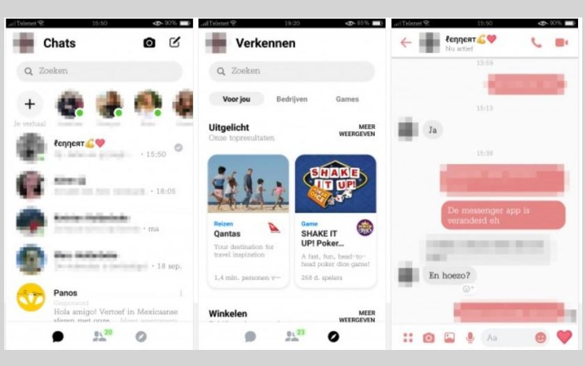 فيسبوك ماسنجر يحصل على تحديث جديد مع واجهة بسيطة