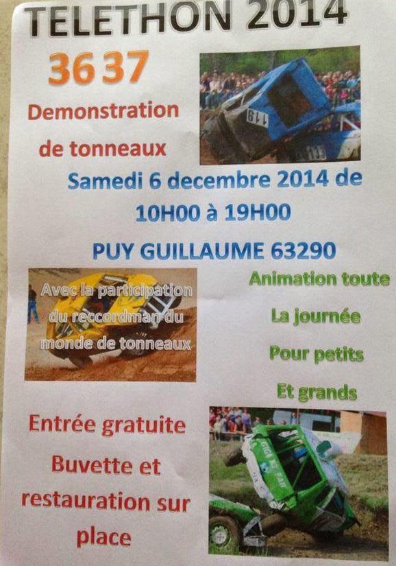 Téléthon 2014:Puy Guillaume, 63