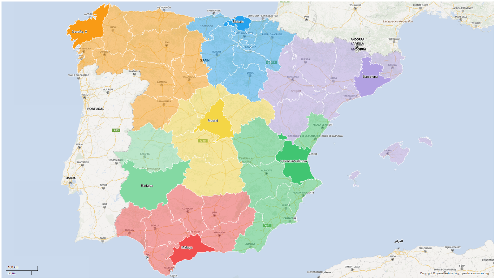 The new Spain: redrawing the country using mobility data