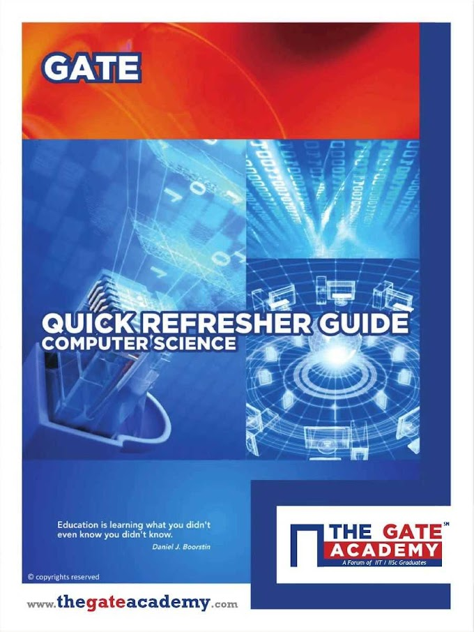 Gate Quick Refresher Guide Computer Science & Information Technology Pdf Free Download
