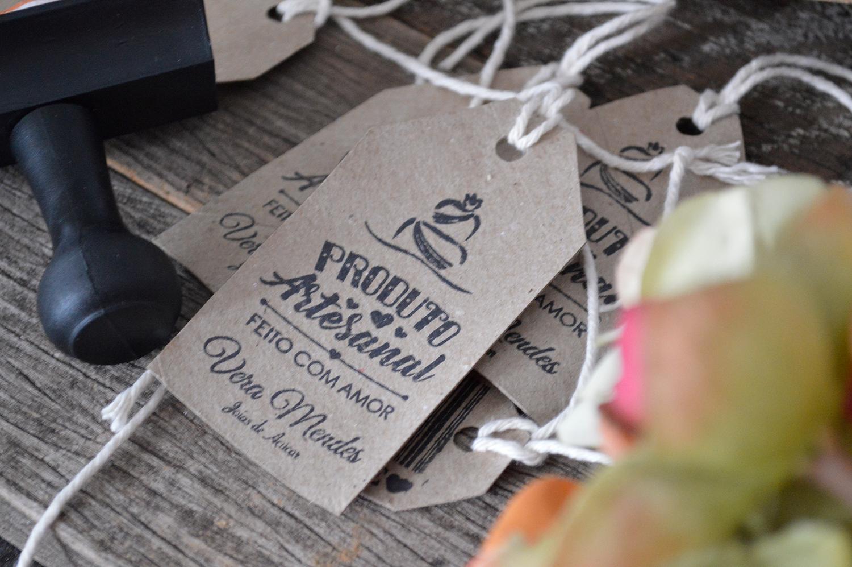 Carimbo Personalizado - Produto Artesanal - Feito com Amor