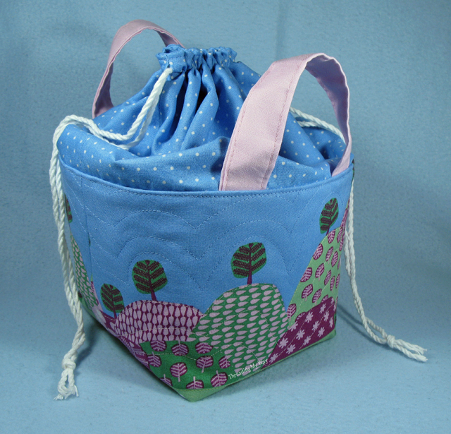Fabric Basket with Drawstring Top Tutorial