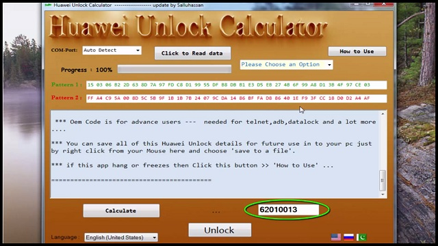 b310s-22 Huawei Unlock Calculator