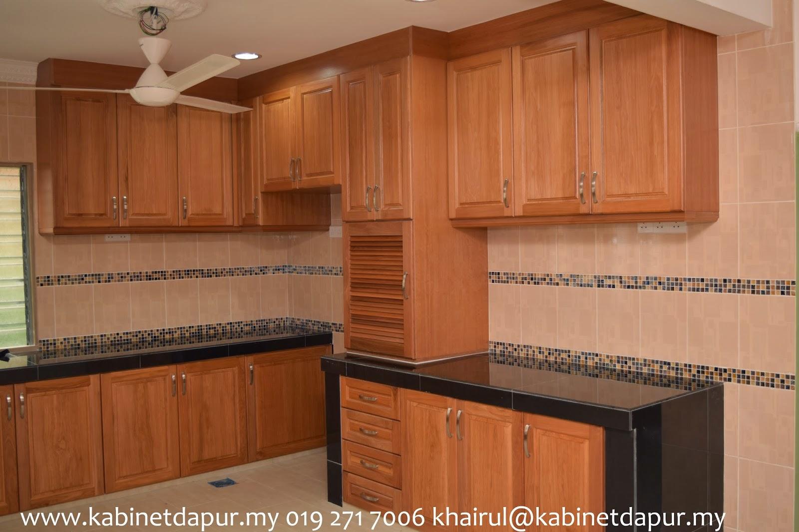30 Design Kabinet Dapur Kayu Shreenad Home