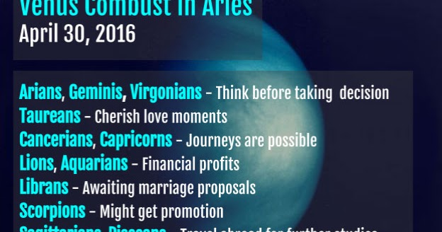 Venus Combust In Aries Today - Know how It Affects Your Life