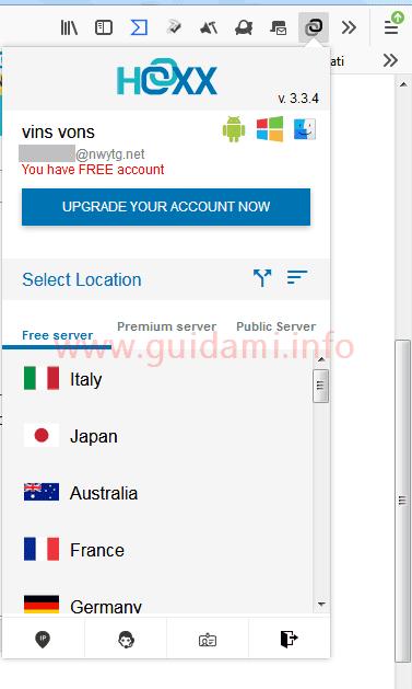 Estensione Firefox Hoxx VPN Proxy