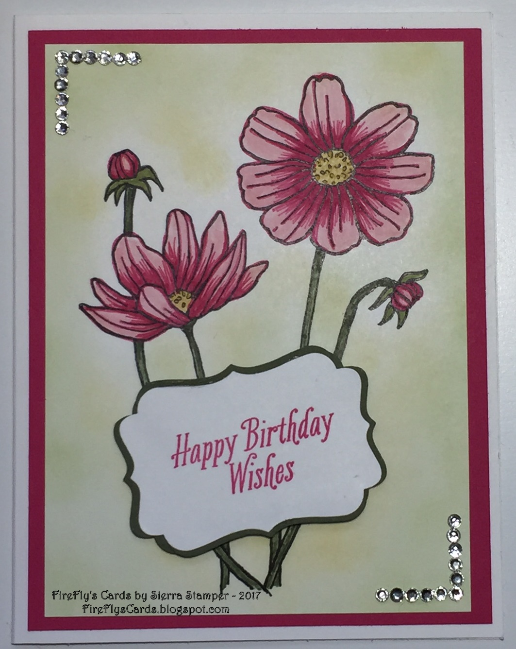 Fireflys Cards By Sierra Stamper Happy Birthday Wishes