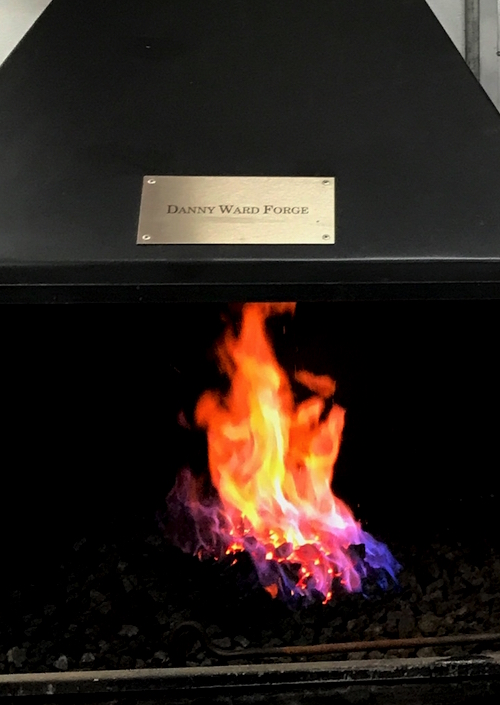 vet school coal forge dedicated to Danny Ward