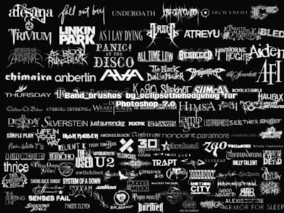 rock/punk/metal band logo brushes