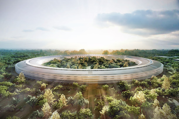 An artist's rendition of the new Apple Mothership