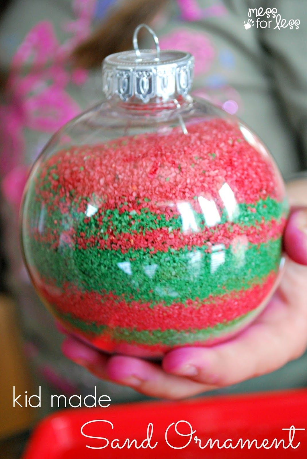 Kids Homemade Christmas Ornaments | Mess For Less