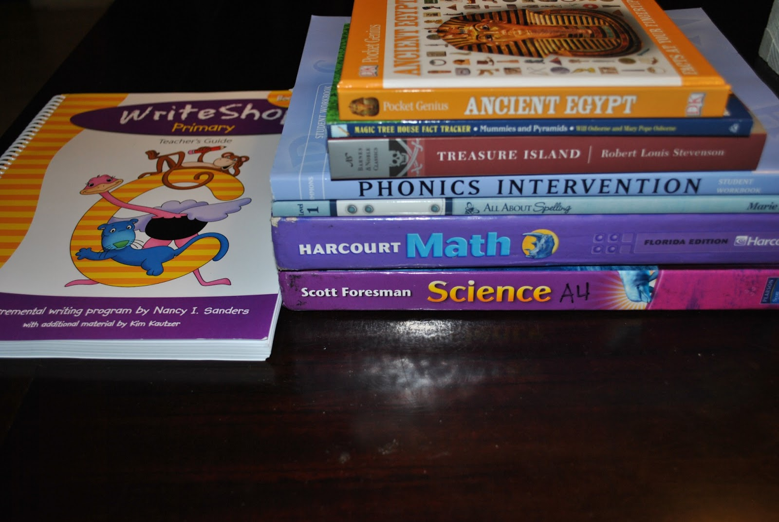 Life With 4 Boys Our Homeschool Room And New Curriculum