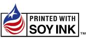 大豆インキで印刷したことを示す「ソイシール」の画像