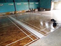 [ Project ] Lantai kayu Parket Galaxy Badminton Cikupa