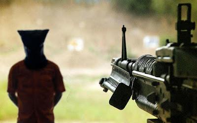 Hukuman Tembak.  Gambar Iustrasi dari OKEZONE COM