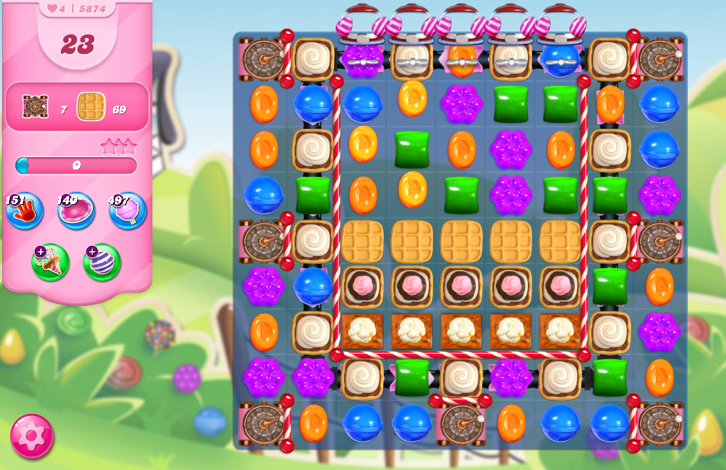 Candy Crush Saga level 5874