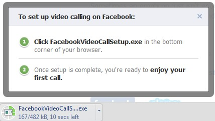 facebook video call setup v1.2.199.0.exe