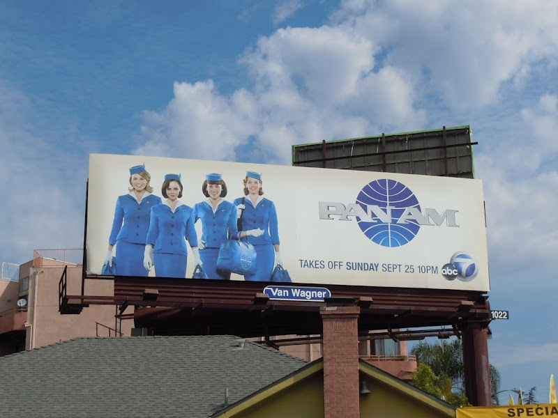 Pan Am TV billboard