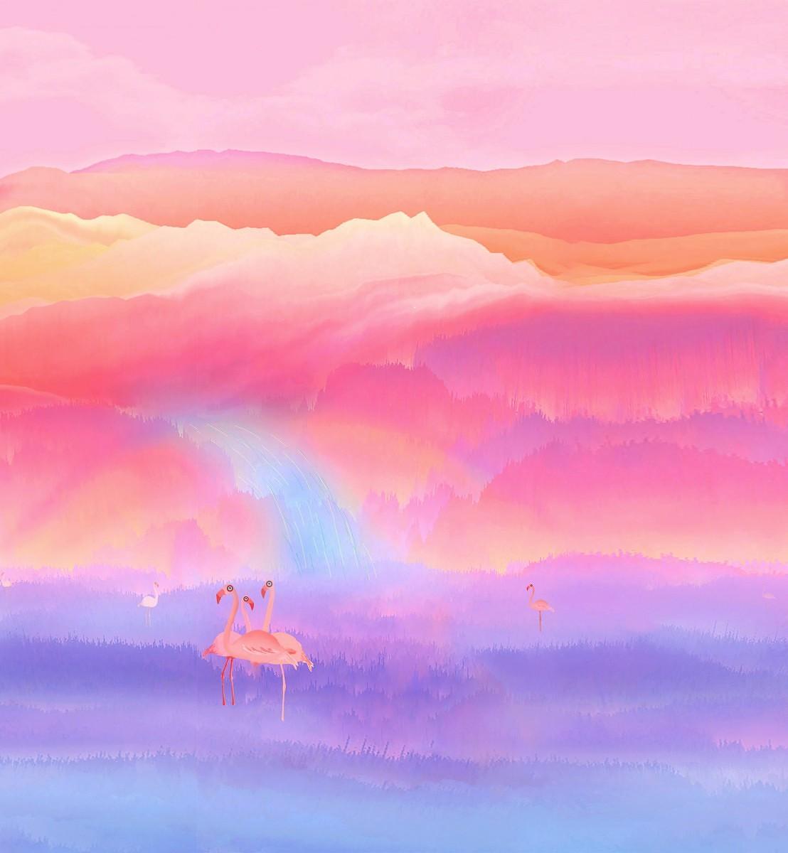 Honor Magic 2 Wallpaper Flamingo