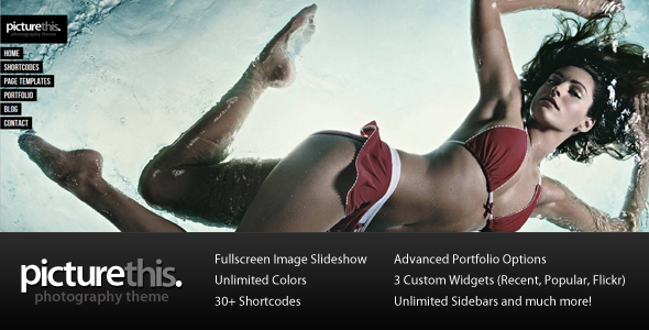 PictureThis - Fullscreen Photography Wordpress Theme Free Download by ThemeForest.