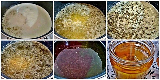 Preparación del ghee o mantequilla clarificada