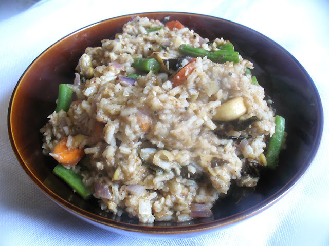 Bisi Bele Bath (Rice with Lentils and Spices)