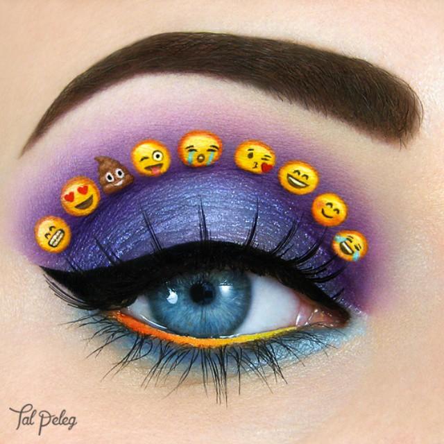 18-Emoji-Makeup-Tal-Peleg-Body-Painting-and-Eye-Make-Up-Art-www-designstack-co