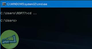 Keluar Folder Di Command Prompt