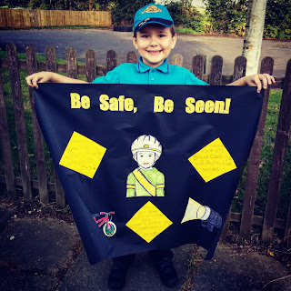 BB with his Poster as as part of his Beavers Cyclist Activity Badge