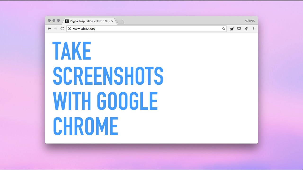 How to Capture Screenshots with Google Chrome [video]