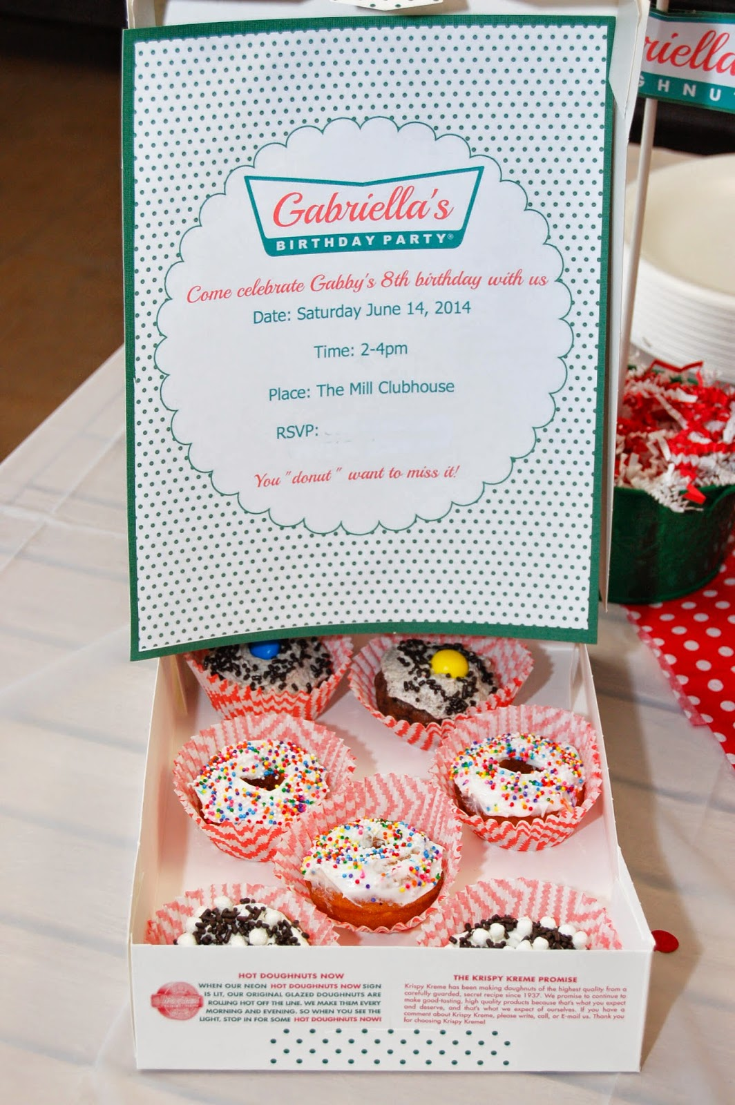Krispy Kreme Party Invitation by The Sweet Chick