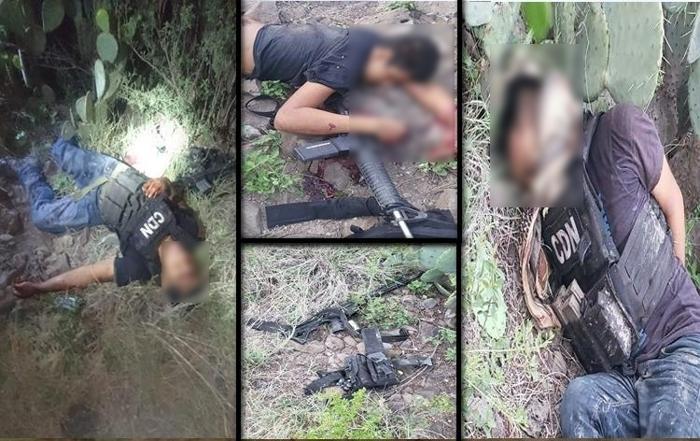 Ni las pecheras, ni el tiro arriba les sirvió, Sicarios del CDN son abatidos por Policías durante sangriento enfrentamientos en Coahuila