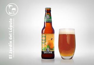 Smuttynose Pumpkin Ale, una cerveza de calabaza.