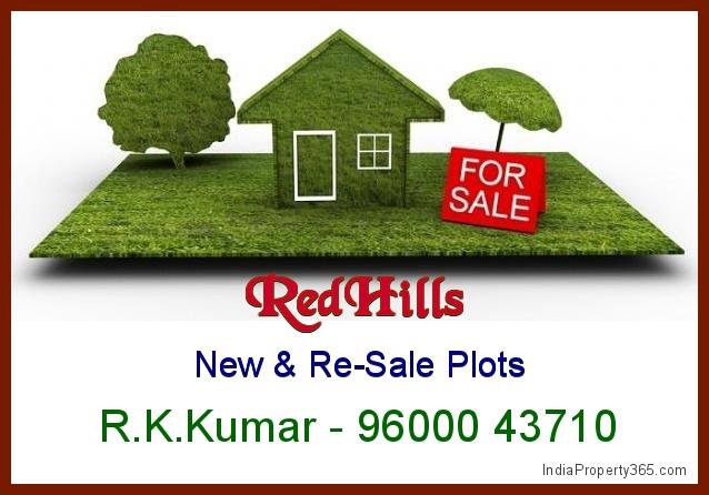 RedHills Plots for Sale - Gomathi Amman Nagar - 9600043710