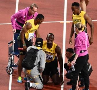 Cedera Menghampiri Usain Bolt di London Stadium