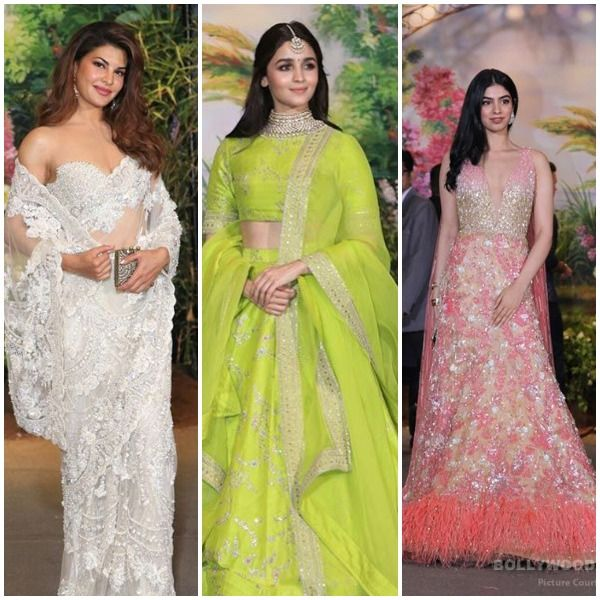 Jacquline fernandez, alia bhatt and kushi kapoor at sonam kapoor's wedding in the morning