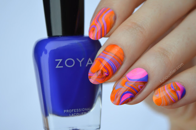 water marble neon tutorial meebox summer nail art