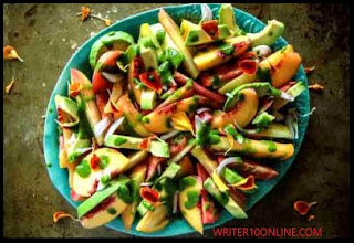 best way to make peach and avocado salad - recipe