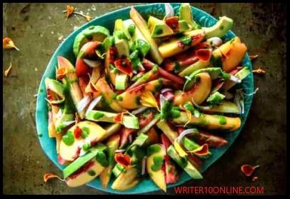 best way to make peach and avocado salad - recipe