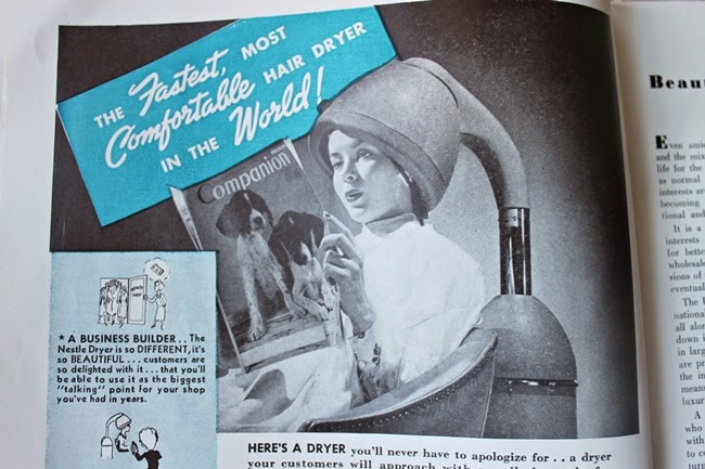 1940 american hair dresser magazine vintage hair ad