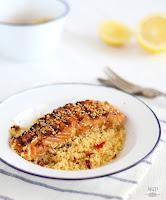 Salmon Teriyaki con couscous de verduras