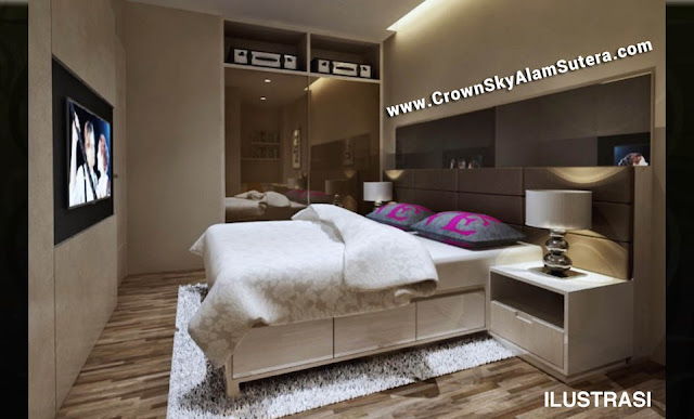 Master Bedroom Design Crown Sky Apartment Alam Sutera