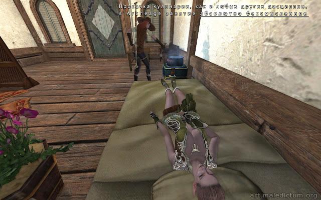 Archeage: Пока эльфийка спит, ее младшая подруга готовит ужин
