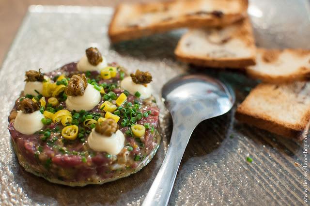 Comer Steak tartar Madrid Chamberí restaurante recomendado calidad precio