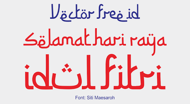 Font Siti Maesaroh